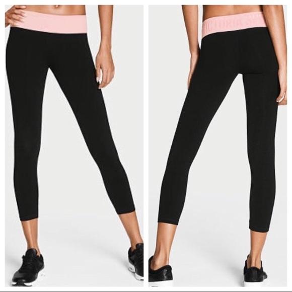 34a6024f24654 Victoria's Secret Pants   New Vs Sport Capri Crop Leggings Pink Lily ...